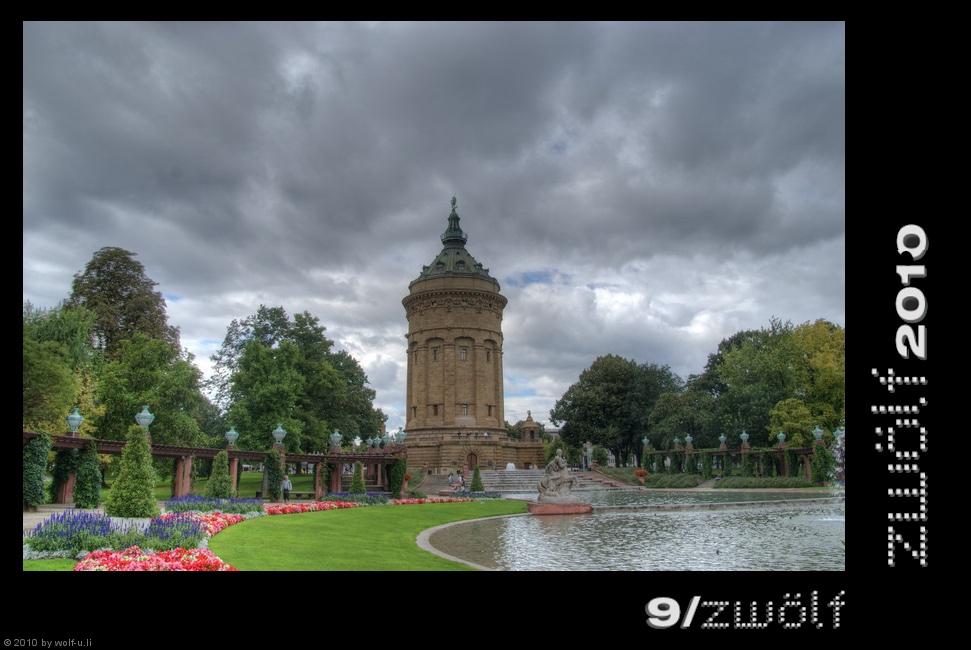 Projekt zwölf2010: Wasserturm Mannheim im September