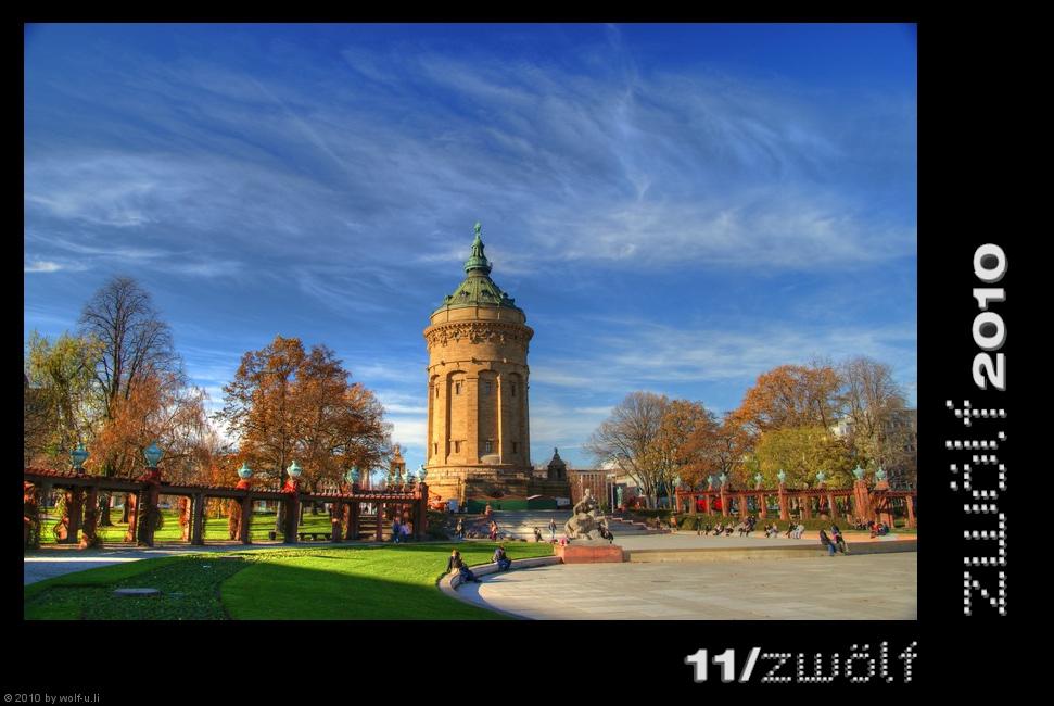 Projekt zwölf2010: Wasserturm Mannheim im November