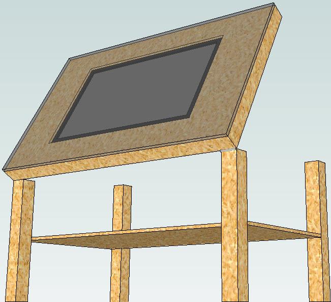 Eigenbau eines Tischfernsehers im aufklappbaren IKEA Tisch