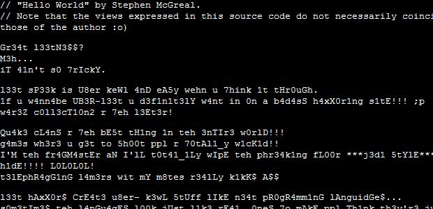 Die abgefahrensten Programmiersprachen :)