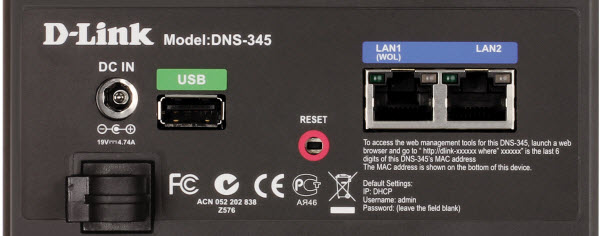 D-Link Sharecenter™ DNS-345 ist Wake On LAN fähig?