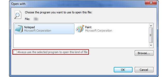 Wie verknüpft man unter Windows Dateien ohne Endung mit einem Programm – Beispiel: Notepad