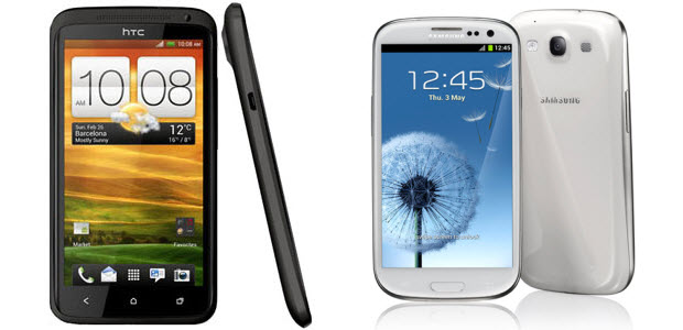 HTC One X versus Samsung Galaxy S3