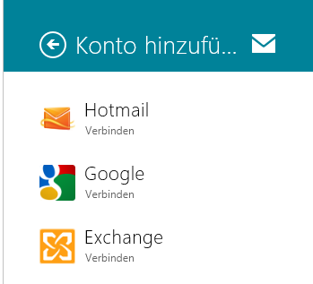 Windows 8 - Mail App - Google Mail einbinden