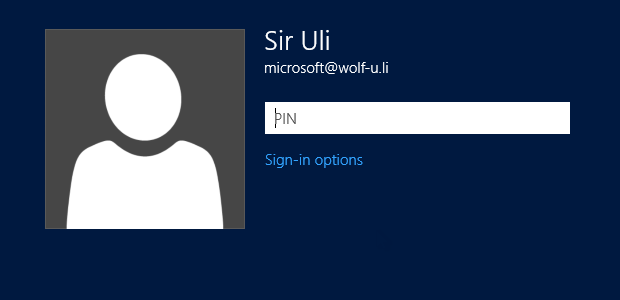 Windows 8 - Login per PIN