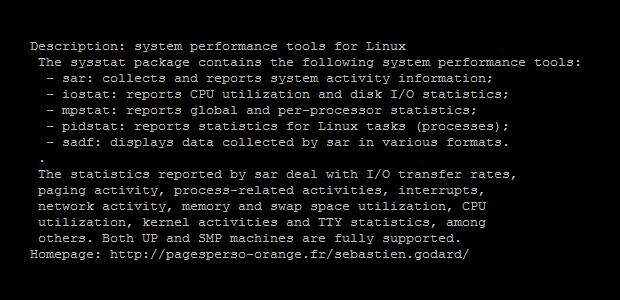 iostat unter Debian Linux