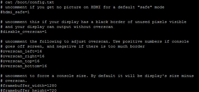 Werte der config.txt (=BIOS) des Raspberry Pi erläutert