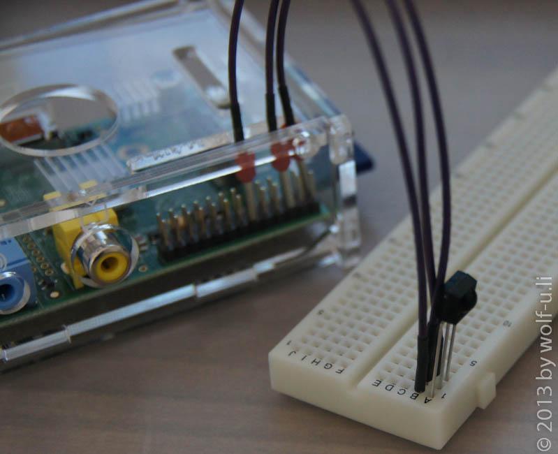 Verwendung des TSOP4838 am GPIO-Header des Raspberry PI unter Raspbmc