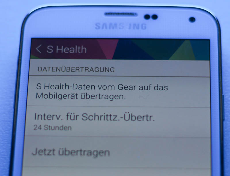 Review und Test der Samsung Galaxy Gear 2 – Software