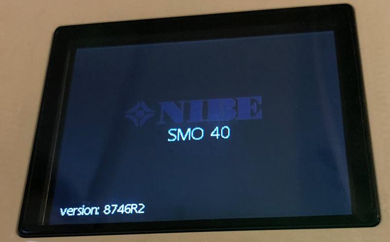 Installation der Firmware 8746R2 auf einem Nibe SMO 40